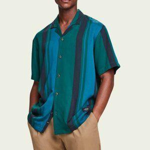 NWT Scotch & Soda Slim Fit Button Down Camp Shirt
